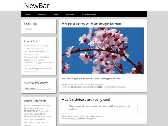 NewBar wordpress theme