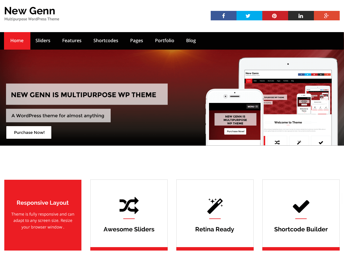NewGenn free wordpress theme