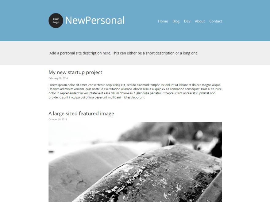 NewPersonal theme wordpress gratuit