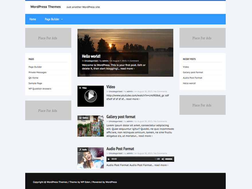 News Flash free wordpress theme