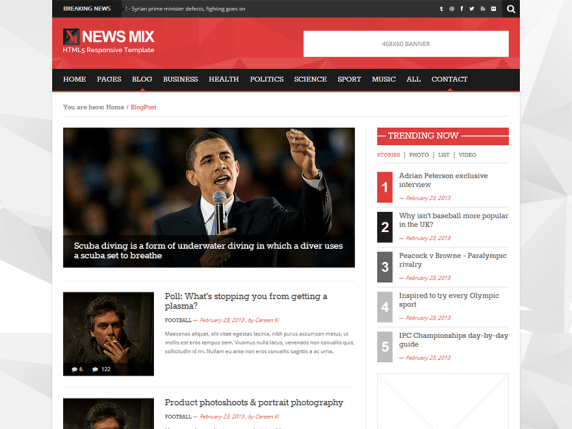 News Mix Light wordpress theme