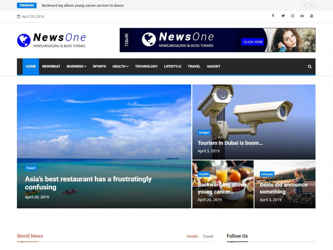 News One WordPress Theme download