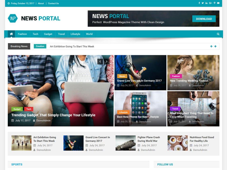 News portal wordpress screenshotgw1142stripall maxwellsz