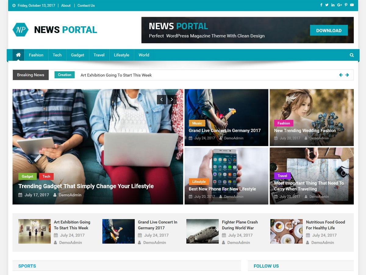 News Portal - WordPress theme | WordPress.org Sardu