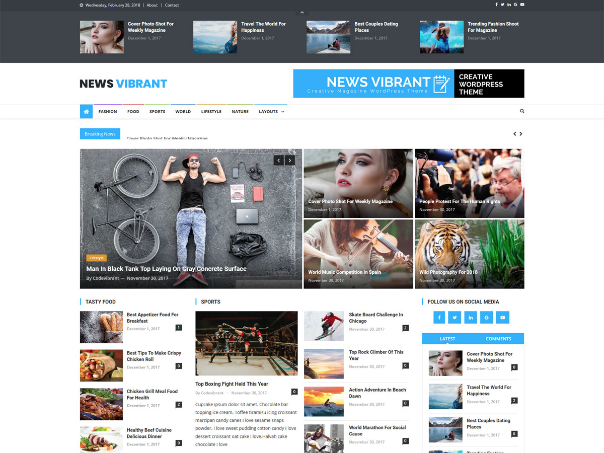 News Vibrant - WordPress theme   WordPress.org