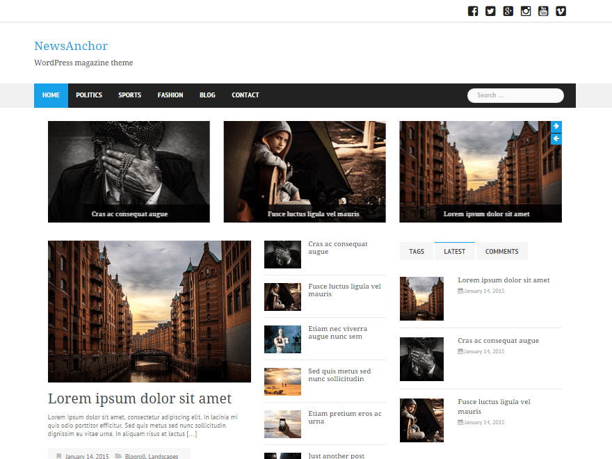 NewsAnchor free wordpress theme