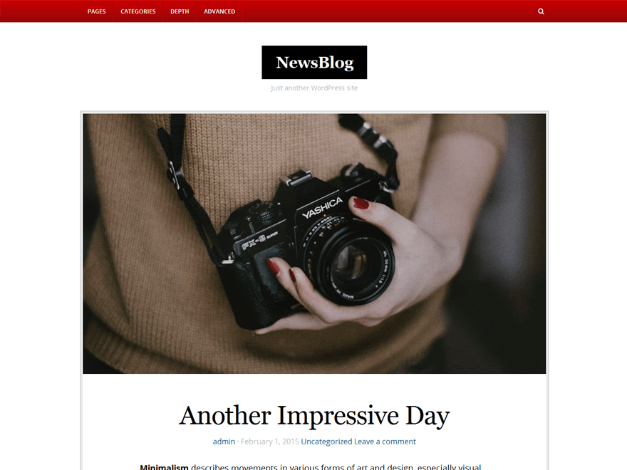NewsBlog free wordpress theme