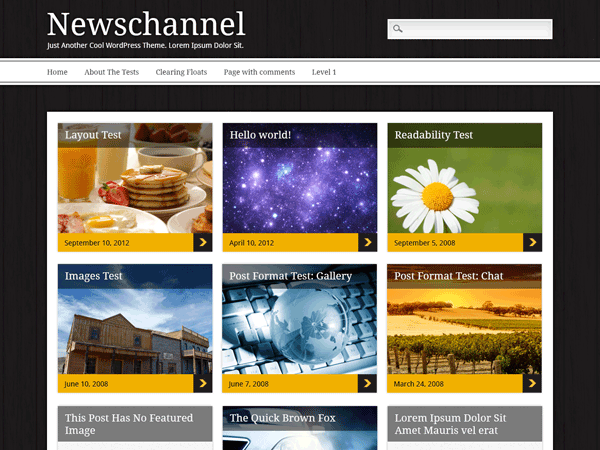 Newschannel free wordpress theme
