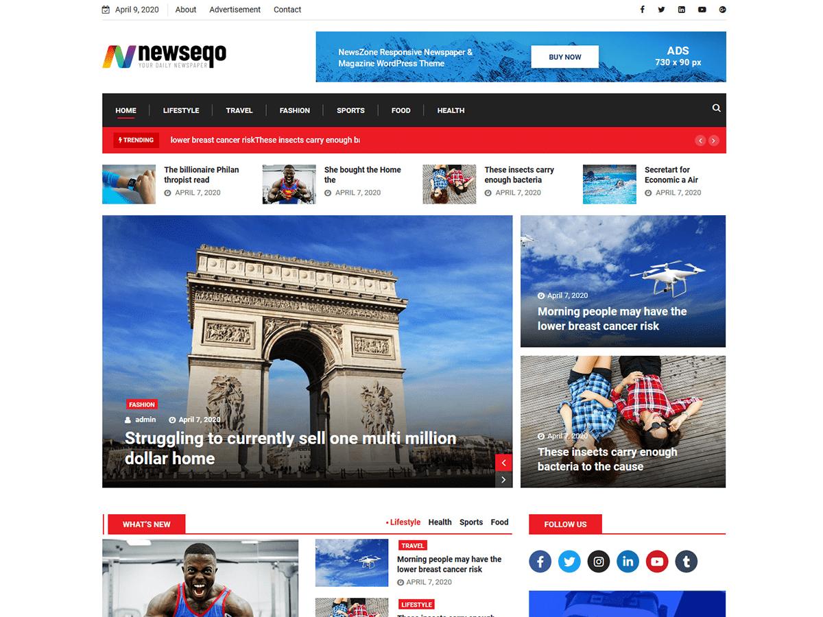 Newseqo - WordPress theme | WordPress.org