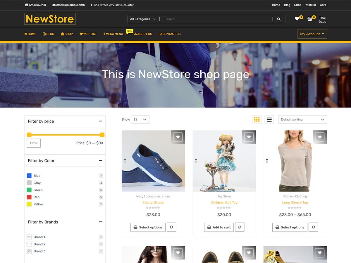 NewShop eCommerce Wordpress Themes