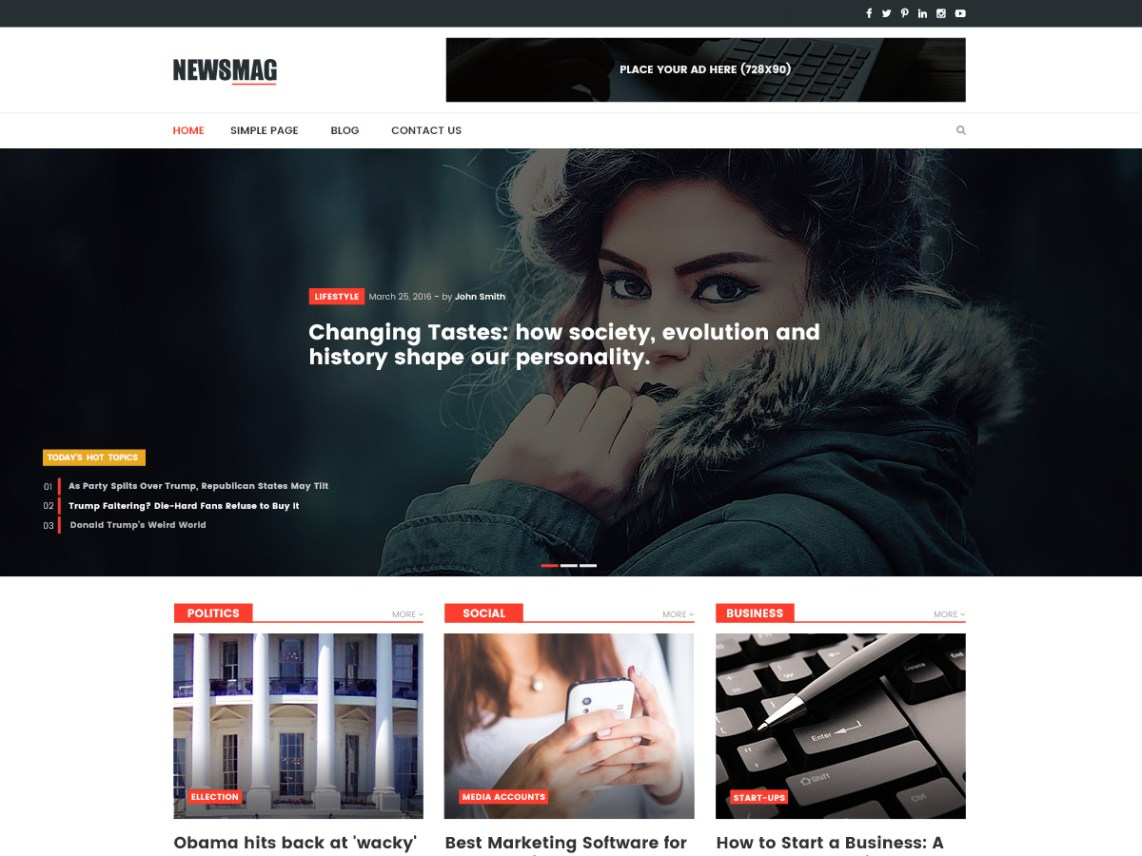 news website designs