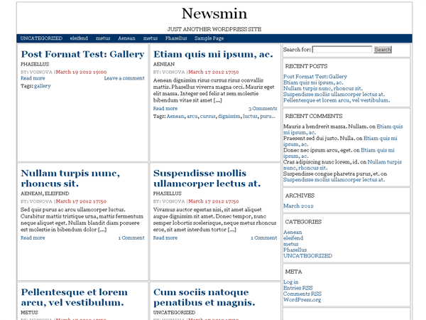 Newsmin free wordpress theme