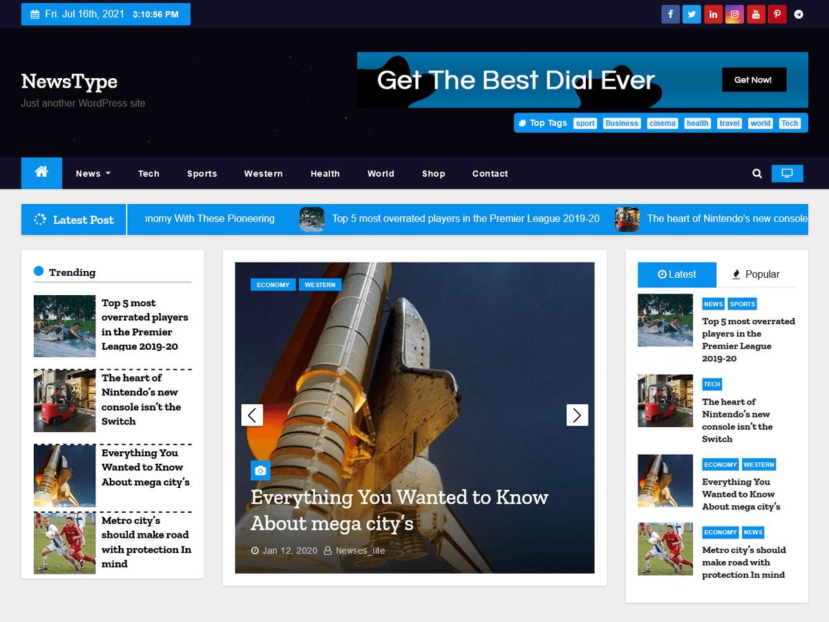 WordPress主题:Newstype