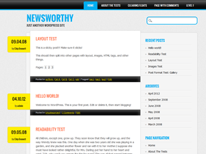 Newsworthy free wordpress theme