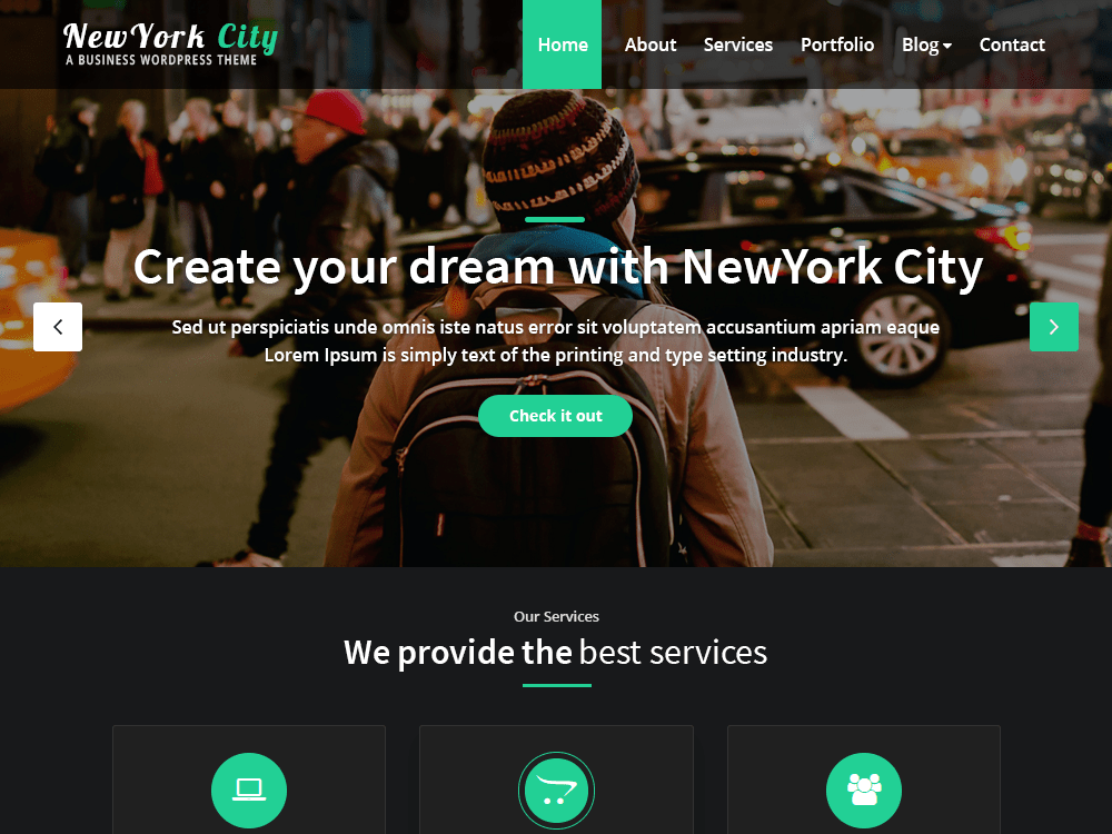 NewYork City - WordPress theme | WordPress.org