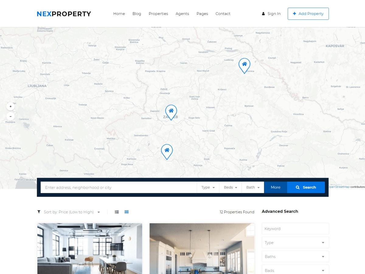 NexProperty Free Directory Listing WordPress Theme