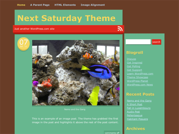 Next Saturday wordpress theme