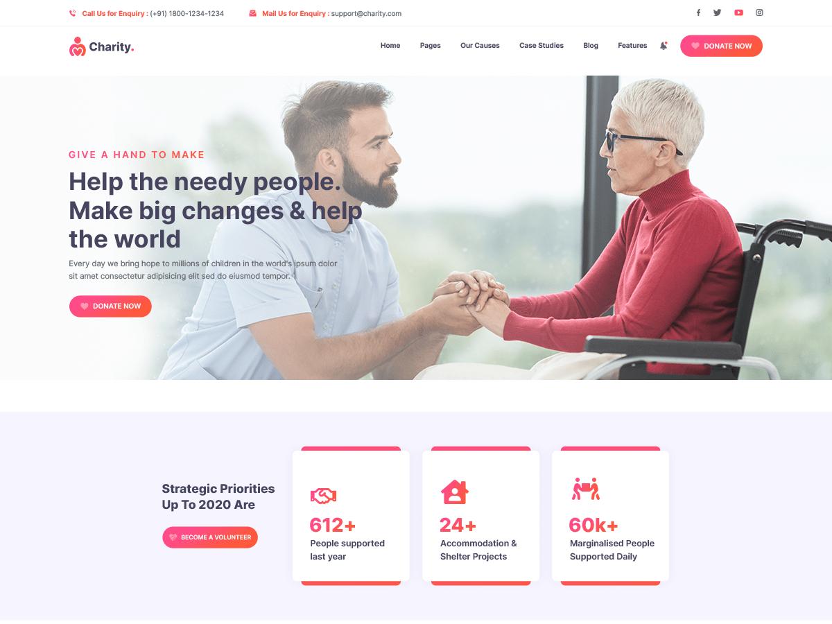 Qi Multipurpose First-rate Design Free WordPress Theme