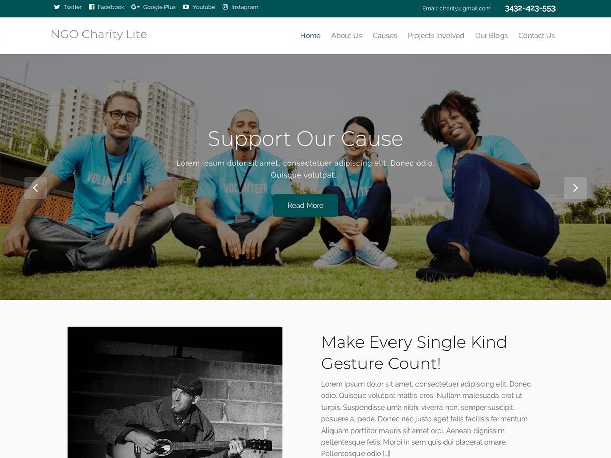 WordPress主题:NGO Charity Lite