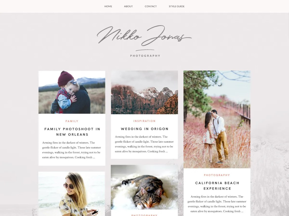 Nikko Portfolio Theme Free Download
