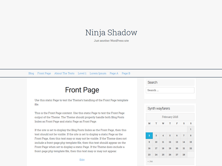 Ninja Shadow free wordpress theme