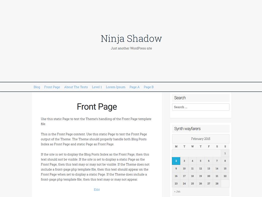 Ninja Shadow Teması Ücretsiz İndir