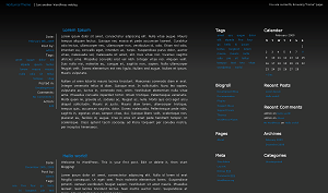 nocturnal free wordpress theme