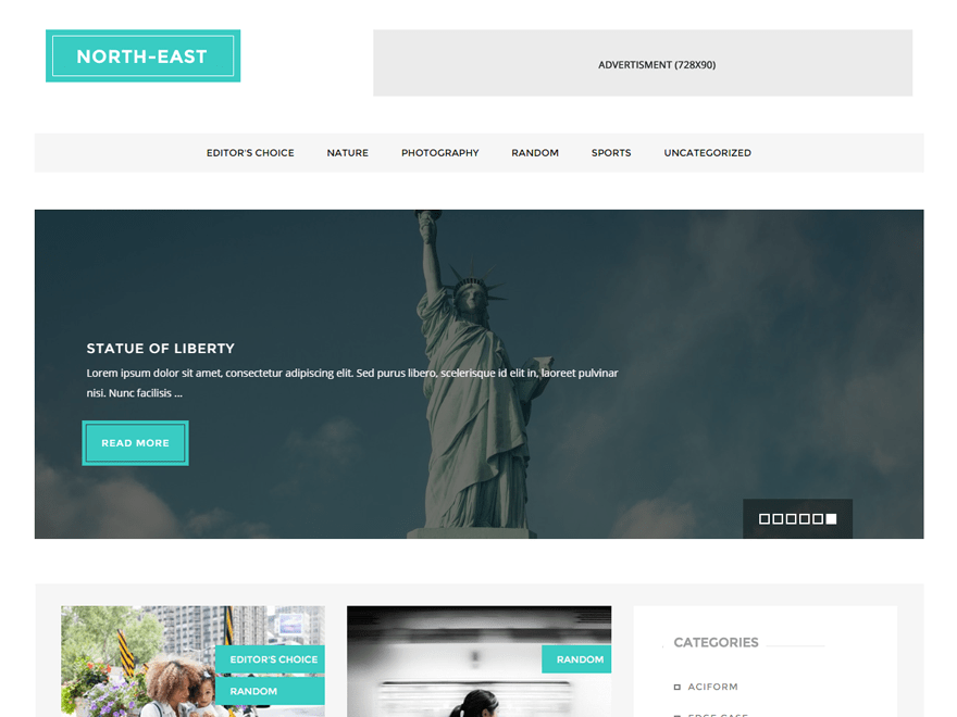 North East free wordpress theme