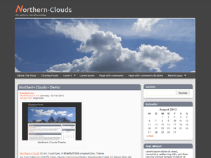 Northern-Clouds free wordpress theme