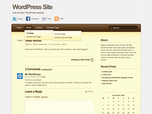 Notepad Theme free wordpress theme