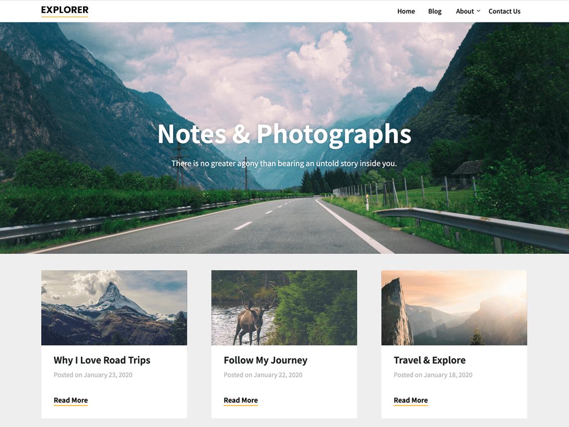 WordPress主题:Notes and Photos