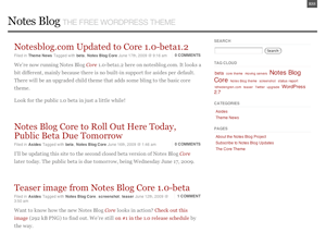 Notes Blog Core Theme free wordpress theme