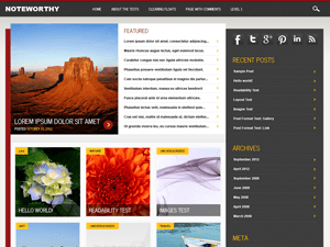 Noteworthy free wordpress theme