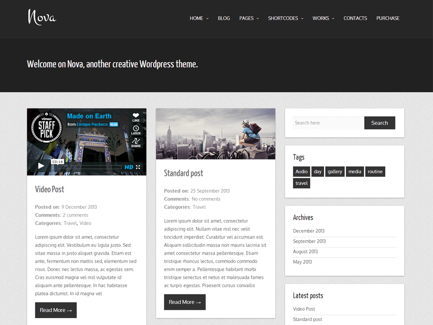 Nova Lite — Free WordPress Themes