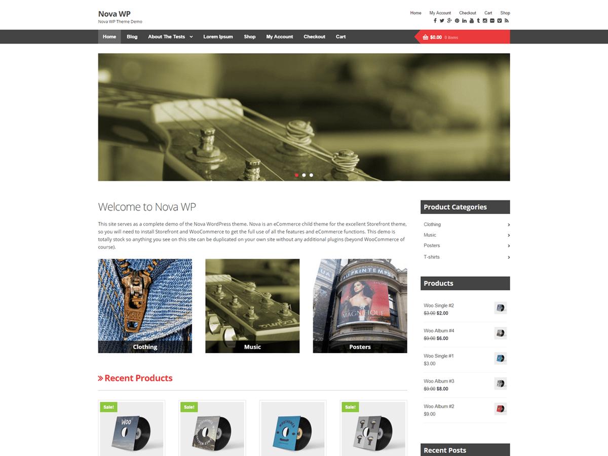 Nova WP free wordpress theme