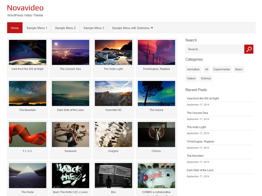 Novavideo Lite free wordpress theme