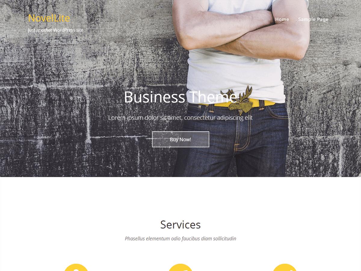 NovelLite free wordpress theme