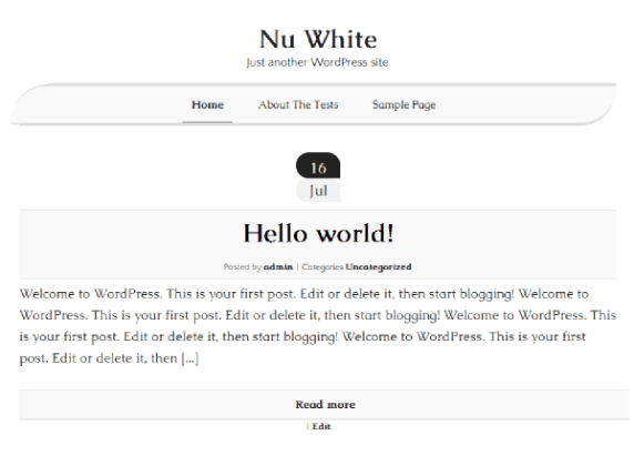 Nu White wordpress theme