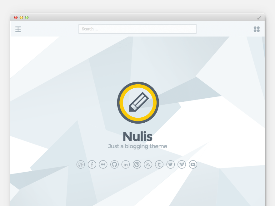 Nulis wordpress theme