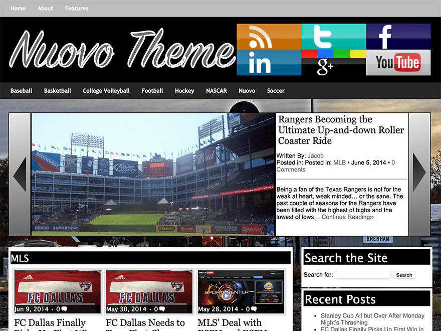 Nuovo free wordpress theme