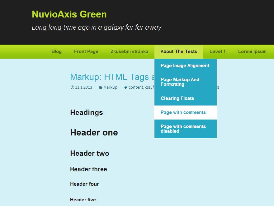 NuvioAxis Green free wordpress theme