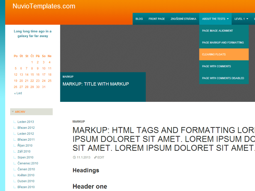 NuvioElement Orange free wordpress theme