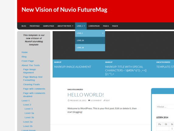 NuvioFutureMag Red wordpress theme