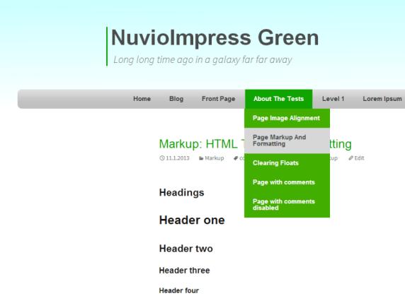 NuvioImpress Green wordpress theme