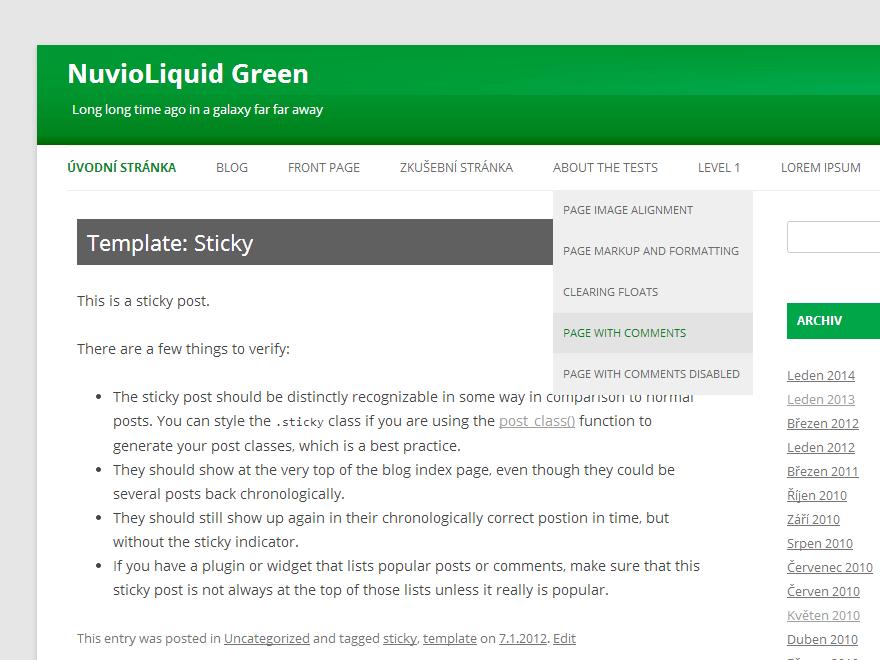 NuvioLiquid Green theme wordpress gratuit