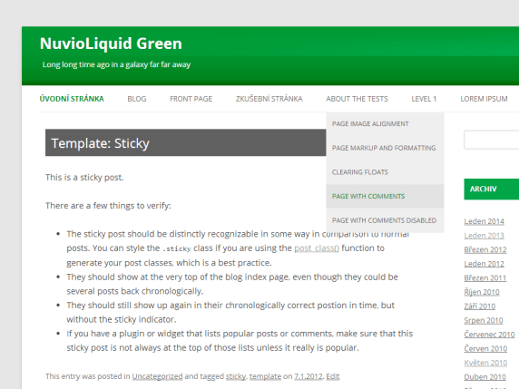 NuvioLiquid Green wordpress theme
