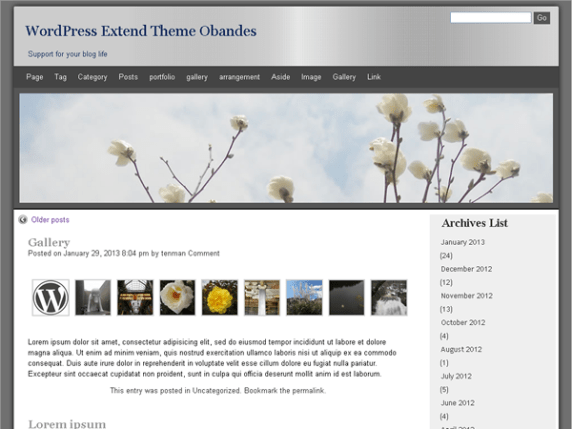 obandes wordpress theme