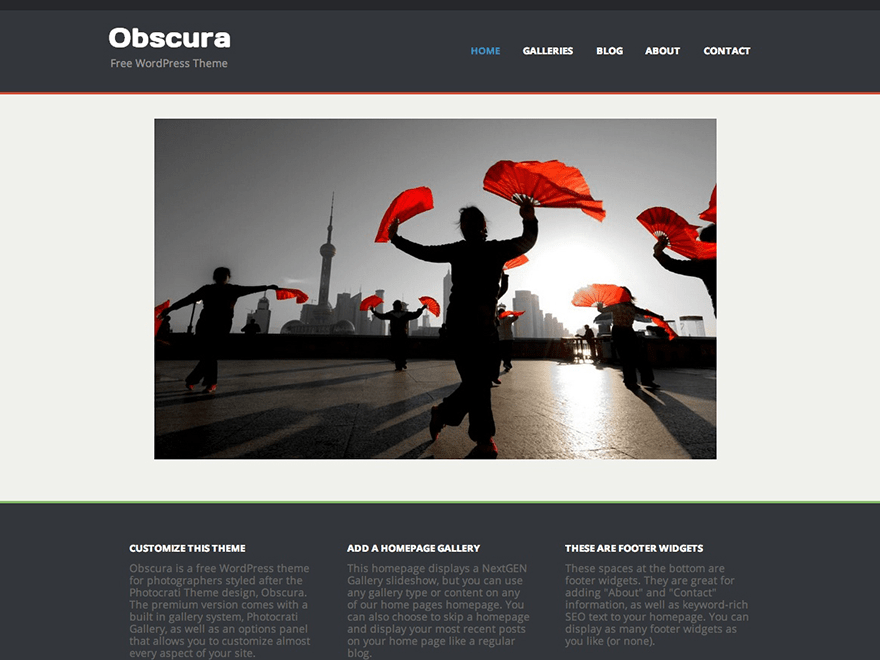 Obscura free wordpress theme