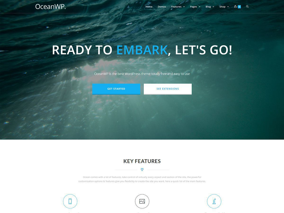 OceanWP Theme Screenshot