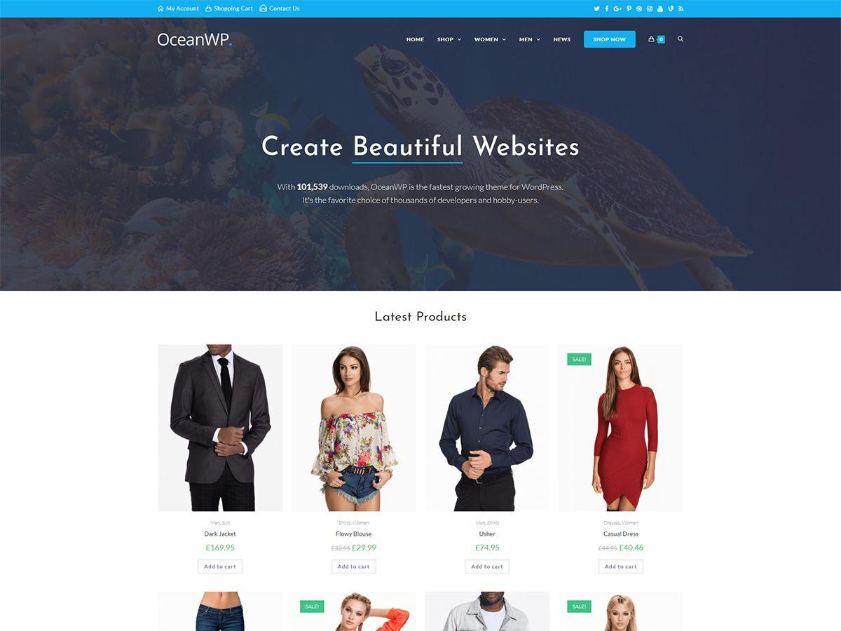 WordPress тема: OceanWP